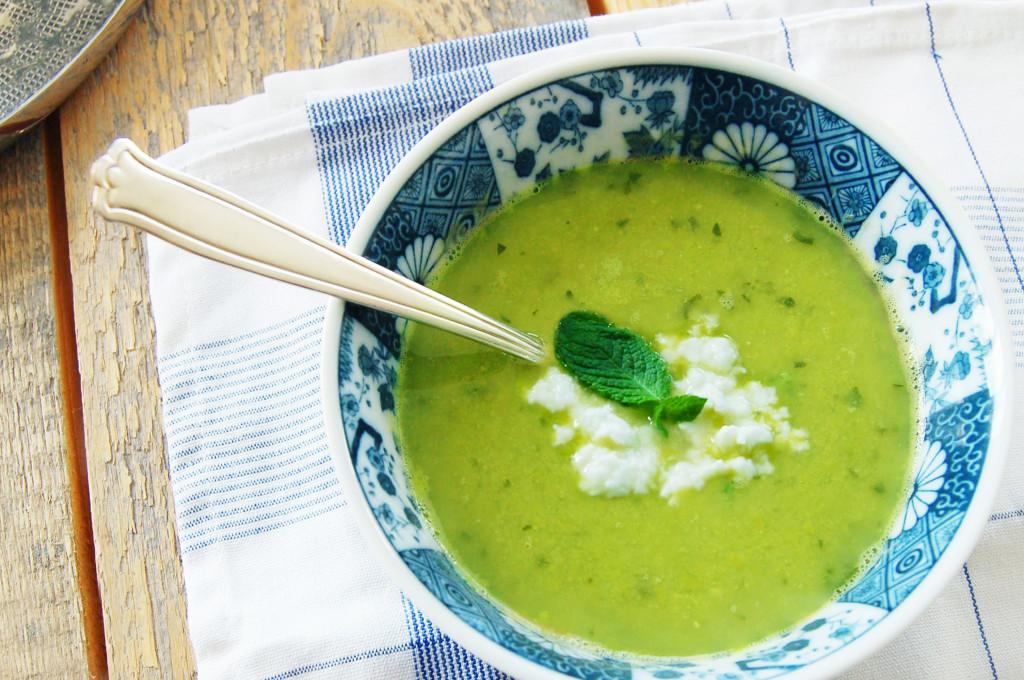Doperwten-munt soepje